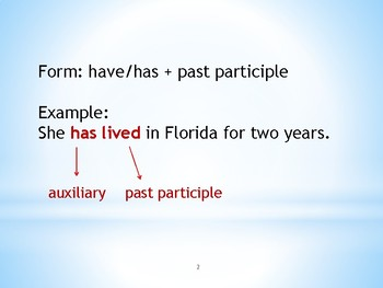 English: Present Perfect Tense PowerPoint Lesson