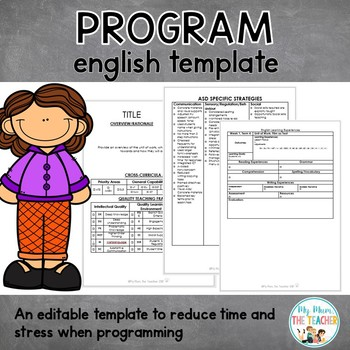 editable program template