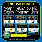 English Program Year 9 Year 10 BUNDLE Complete Units Australia New Zealand