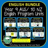 English Program Year 9 Year 10 BUNDLE Complete Units Austr