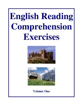 English Reading Comprehension Exercises, Volume One Activities and Worksheets