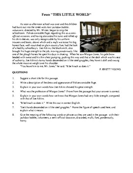 English Reading Comprehension Exercises - Volume Three Activities and Worksheets