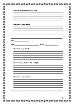 English Reading: Short Story Reading-Log