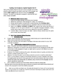 English Regents Part 3 Planning and Structure
