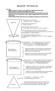 English Regents Question 28 Structure