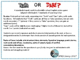 English Remediation Truth or Dare Task Card Game SOL 7th g