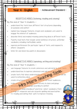 English - Australian Curriculum - Report Writing - Year 4