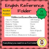 English Reference Folder- Notes for Secondary ELA