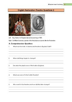 English Restoration Theatre Reading, Questions and Answers