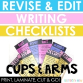 English Revise & Edit (ARMS & CUPS) Writing Checklists!