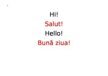 English-Romanian Conversation Guide (slideshow with sound)