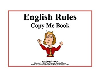 English Rules Copy Me Book (irregular plurals)