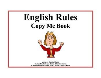 English Rules Copy Me Book (irregular plurals)