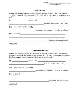 English SMART Goal Sheet