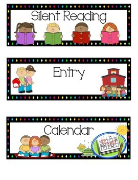 Schedule Cards, Timetable Display, Visual Schedule ENGLISH