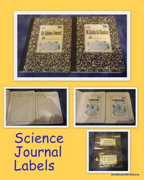 English Science Journal Labels
