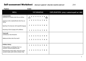 English - Self-Assessment - Skills
