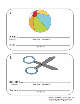 English Sentence Frame Flashcards - Defining by Category and Function