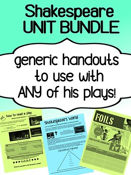 English - INTRO to Shakespeare - Bundle - Generic for ANY play
