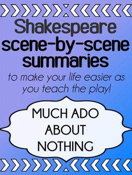 English - Shakespeare - Much Ado About Nothing - Scene Summaries