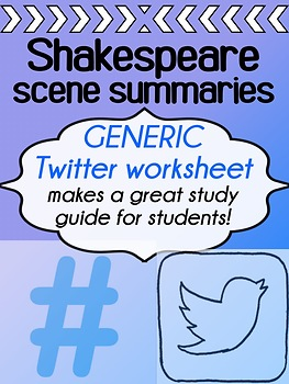 "English - Shakespeare Summaries -  ""Twitter"" worksheet"