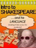 English - INTRO - Shakespeare's language