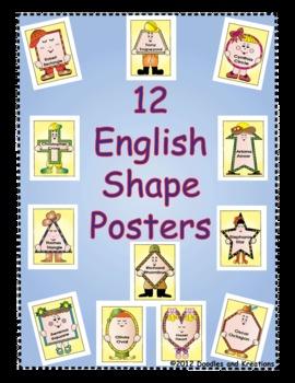 English Shape Posters