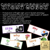 English Sight Words with Spanish Pronunciation and Translation