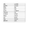 English- Silly and Simple Adjectives Activity!