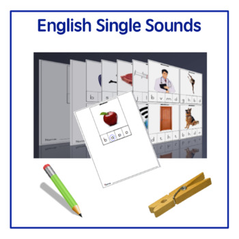 English Single Sounds Clip Cards