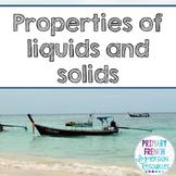English - States of matter unit (solid, liquid, gas)