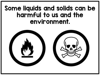 English - States of matter unit (solid, liquid, gas)