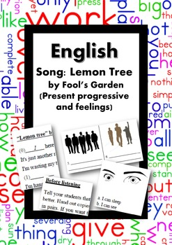 ESL/English: Song: Lemon Tree (Fun & Present Progressive)