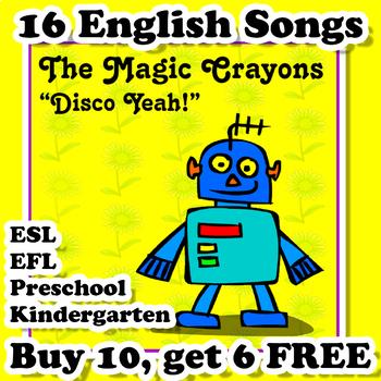 English Songs for ESL EFL Kindergarten and Preschool - Bundle #2