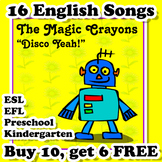 English Songs for ESL EFL Kindergarten and Preschool - Bundle #2