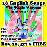 English Songs for ESL EFL Kindergarten and Preschool - Bundle #1