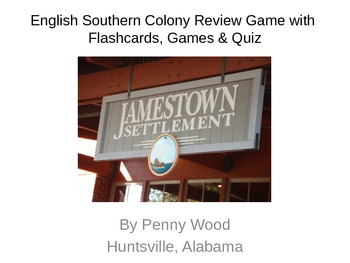 United States History Southern Colony Flashcard and Game