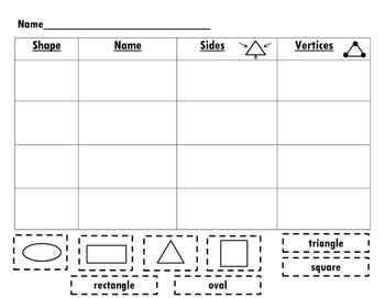 English & Spanish 2D Shape Graph