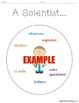"English / Spanish ""A Scientist..."" / Un Cientifico Circle Map Graphic Organizer"
