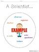"English / Spanish ""A Scientist..."" / Un Cientifico Circle"