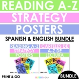 BUNDLE English & Spanish Reading Alphabet Posters for Grades 3-5!