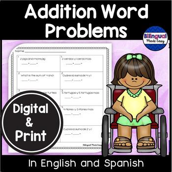 Bilingual Addition Word Problems