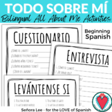 All About Me Spanish - Spanish Get to Know You Activities - Spanish Worksheets