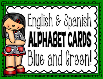 English & Spanish Alphabet Cards