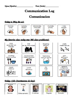 English-Spanish Communication Log