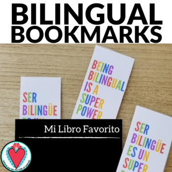 English Spanish Bookmarks - Being Bilingual is a Superpower