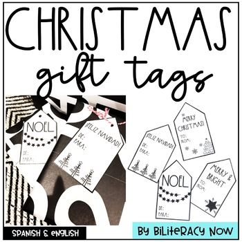 English & Spanish Christmas Gift Tags! Rae Dunn Inspired Gift Tags!