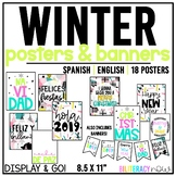 English & Spanish Christmas Holiday Posters! 16 Unique Designs! 8.5 x 11!