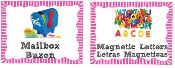English/Spanish Classroom Labels