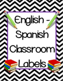 English/Spanish Classroom Labels & Word Cards